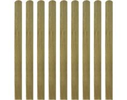 vidaXL Impregnowane listwy płotu 10 szt. 120 cm, drewno FSC