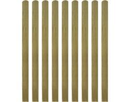 vidaXL Impregnowane listwy płotu 10 szt. 140 cm, drewno FSC