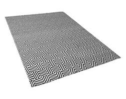 Beliani Dywan na zewnątrz czarno-biały 160 x 230 cm IMIRCIK