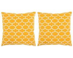 vidaXL Poduszki ręcznie robione, 2 szt., 45 x 45 cm, żółte ze wzorem