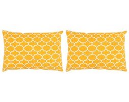 vidaXL Poduszki ręcznie wykonane, 2 szt., 45 x 60 cm, żółte ze wzorem
