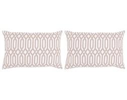 vidaXL Poduszki ręcznie wykonane, 2 szt., 45 x 60 cm, taupe ze wzorem