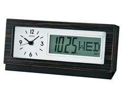 Zegar biurkowy SEIKO QXL011B z datownikiem