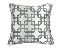 Poduszka w geometryczny wzór Silver , Rozmiar: 45 x 45 cm