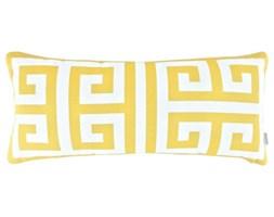 Poduszka ze wzorem greckiego klucza Key Sunny, Rozmiar: 30 x 65 cm