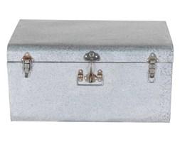 Komplet ozdobnych walizek Silver, Rozmiar: 57 x 38 x 29 cm Kolor: jasnoszary Materiał: metal