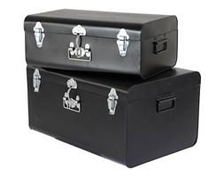 Komplet ozdobnych walizek Black, Rozmiar: 57 x 38 x 29 cm Kolor: czarny Materiał: metal