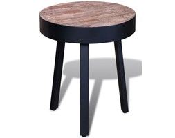 vidaXL Okrągły stolik z odzyskanego drewna tekowego