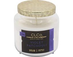Świeca zapachowa Candle-lite CLCo duża w szkle - Violet Patchouli