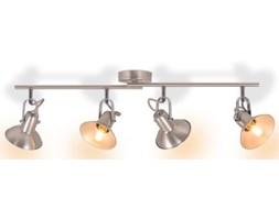 vidaXL Lampa sufitowa na 4 żarówki E14, kolor srebrny