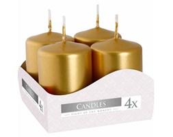 Bispol zestaw świec bezzapachowych bryłowych wotywnych 60/40 mm 4 szt - Złote