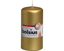 Bolsius Pillar Candle świeca bryłowa pieńkowa słupek 120/60 mm - Złota