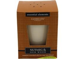 Świeca zapachowa Candle-lite Essential Elements naturalna olejki eteryczne - Nutmeg & Oudwood