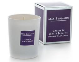 Max Benjamin Kolekcja Klasyczna świeca zapachowa w szkle handmade - Cassis & White Jasmine