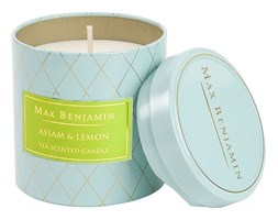 Max Benjamin Kolekcja Herbaciana świeca zapachowa w puszce handmade - Assam & Lemon Tea