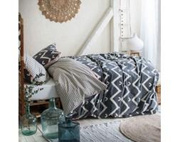 POŚCIEL bawełniana zygzak 200x220 w stylu skandynawskim HIPPIE