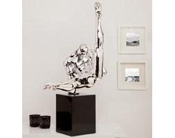 INTERIOR SPACE :: Figurka Athlete 70cm - srebrna - Z EKSPOZYCJI