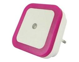 LED Nocne światełko z czujnikiem LED/0,5W/230V różowe