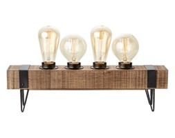 WOODHILL-Lampa stojąca 4-punktowa Metal i Drewno Dł.46cm | -10% z kodem HALO10