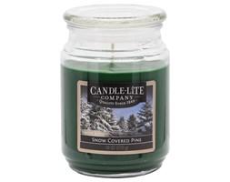 Świeca zapachowa Candle-lite duża w szkle 510 g - Snow Covered Pine