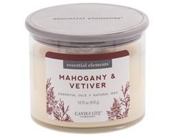Świeca zapachowa Candle-lite Essential Elements naturalna olejki eteryczne - Mahogany & Vetiver