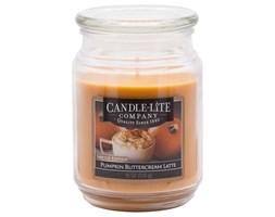 Świeca zapachowa Candle-lite duża w szkle 510 g - Pumpkin Buttercream Latte