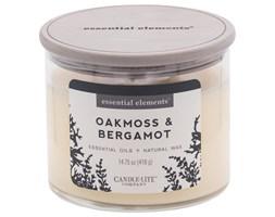 Świeca zapachowa Candle-lite Essential Elements naturalna olejki eteryczne - Oakmoss & Bergamot