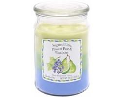 Trójzapachowa świeca zapachowa Candle-lite duża 538 g - Sugared Lime Passion Pear Blueberry
