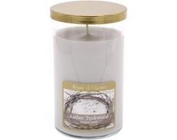 Świeca zapachowa Candle-lite duża tumbler - Amber Teakwood