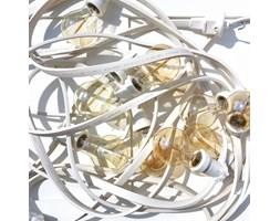 GIRLANDA Girlanda żarówkowa ogrodowa 10m 10 oprawek biała świąteczne dekoracje KOLOROWE KABLE GL10X10B