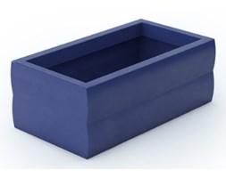 Donica skrzynka prostokątna Nyx 30 cm, niebieska