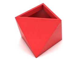 Doniczka Eos 50 cm, z podwójnym dnem, czerwona