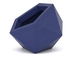 Donica asymetryczna PD Concept Dione 53 cm, niebieska