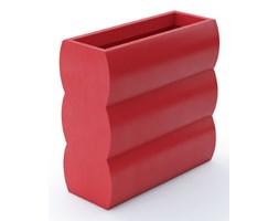 Donica prostokątna wysoka Nyx 70 cm, z podwójnym dnem, czerwona