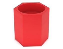 Donica Ceto 60 cm, z podwójnym dnem, czerwona