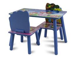 Zestaw dziecięcy stół + krzesła z drewna meble dziecięce niebieski UC121422