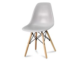 9209398e6c8341 Krzesło nowoczesne na drewnianych bukowych nogach stylowe do salonu szare  212 AB