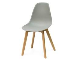 8ab0503275fe43 Nowoczesne krzesło na drewnianych bukowych nogach stylowe do jadalni szare  010 TZ
