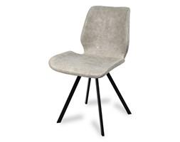 dd194af8cd981d Krzesło na metalowych czarnych nogach tapicerowane skórzane ekoskóra nowoczesne  stylowe jasno szare 063