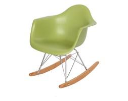 Krzesło dla dzieci na biegunach dziecięce na metalowo-drewnianych płozach zielone 211 TA