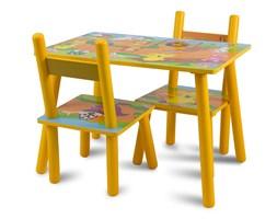Zestaw dziecięcy stół + krzesła z drewna meble dziecięce pomarańczowy UC121430