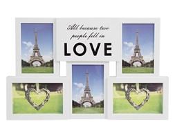 Ramka do zdjęć LOVE multiramka do powieszenia na 5 zdjęć foto biała UC70412