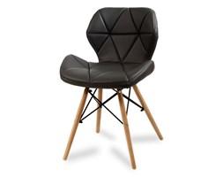 fc8ffd28f82fce Krzesło na drewnianych bukowych nogach tapicerowane nowoczesne stylowe  ekoskóra do salonu biura 024 AB czarne