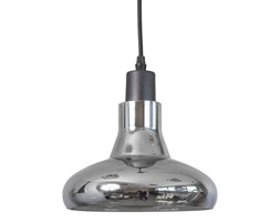 Lampa wisząca sufitowa zwis szklana żyrandol retro srebrny BL019