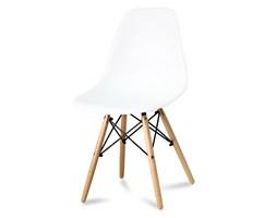 b8f0027c9853d0 Krzesło nowoczesne na drewnianych bukowych nogach stylowe do salonu białe  212 AB / TS / BB