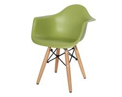 Krzesło dla dzieci krzesełko dziecięce na drewnianych bukowych nogach zielone 211 TA