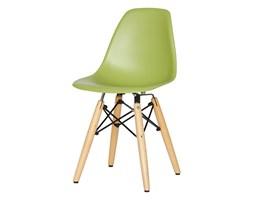Krzesło dla dzieci krzesełko dziecięce na drewnianych bukowych nogach zielone KIDS 212 TA
