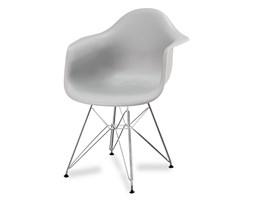 dda750ec3900c0 Krzesło nowoczesne stylowe na metalowych chromowanych nogach do salonu  restauracji szare 211 AB