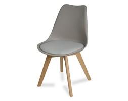 d994465506f474 Krzesło na drewnianych bukowych nogach z poduszką nowoczesne szare Milano  007 TS