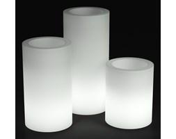 Donica z polietylenu HEBE PL-HE50-LIGHT biały podświetlany